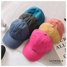 Catworld 復古刷舊水洗棉棒球帽【18003482】‧F