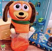 迪士尼 玩具總動員4 日本透明肚肚筆袋 彈簧狗 熊抱哥 火腿豬 造型筆袋 收納袋 彈簧狗款 COCOS DK600