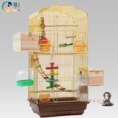 鳥籠 粵迪 鸚鵡鳥籠 鸚鵡籠大型鳥籠子金屬大號牡丹鷯八哥繁殖金色鳥籠T