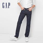 Gap男裝 彈力修身男士休閒牛仔褲 中腰小腳褲男 180217-水洗藏藍