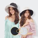 日本AUBE 雙面雙色可折疊抗UV遮陽帽...