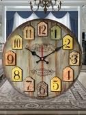 美式鐘錶極簡北歐錶客廳創意潮流家用個性時尚鐘現代簡約復古掛鐘 歐韓流行館