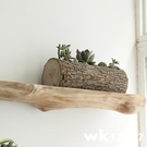 純實木隔板書櫃置物板木架子原木一字擱板木板儲物櫃展示架壁掛架 7-29 wk12907