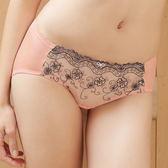 EASY SHOP-花采香芬 中低腰三角褲(粉嫩橙)
