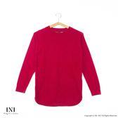 【INI】柔感舒適、素色麻花織紋百搭針織毛衣.紅色