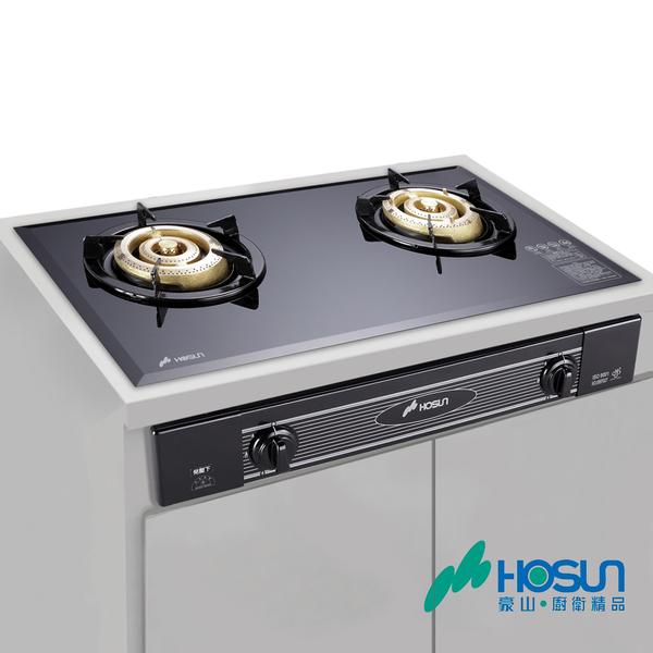 豪山 HOSUN 全銅爐頭歐化玻璃面板嵌入爐 SK-2059 含基本安裝配送