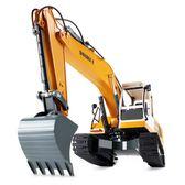 降價三天-雙鷹無線遙控挖掘機合金充電動大號工程車挖土勾機小男孩兒童玩具
