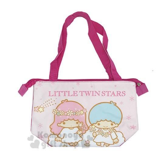 〔小禮堂〕雙子星 帆布便當袋《粉.坐雲朵.拿花》野餐袋.手提袋.保溫保冷 4713549-18028