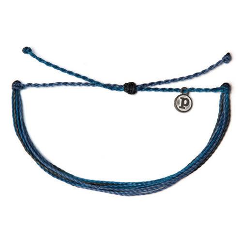 Pura Vida 美國手工DEEP BLUE SEA 深藍海色 可調式手鍊衝浪海灘防水手繩 手鍊