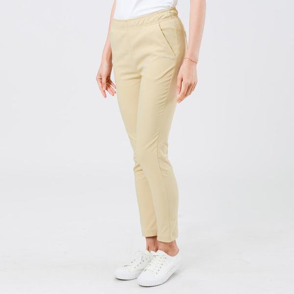 UV100 防曬 抗UV-簡約彈性修身褲-女