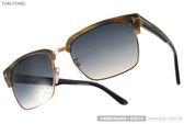 TOM FORD 太陽眼鏡 TOM0367 C60B  (流線綠金) 率性質感眉框款 # 金橘眼鏡