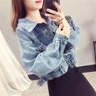 春裝牛仔外套女韓版Chic寬鬆長袖水洗做舊百搭短款夾克上衣服