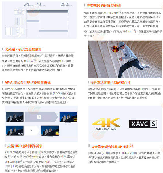 送原電+原廠座充+AG-R2等5好禮 SONY DSC-RX100VI RX100M6 台灣索尼公司貨
