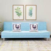 布藝沙發小戶型折疊沙發床兩用客廳簡易出租房歐美式單雙人多功能LZ3038【viki菈菈】