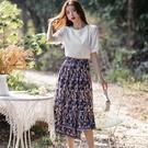 民族風不規則裙襬兩件套裝(上衣+裙)[99160-QF]美之札