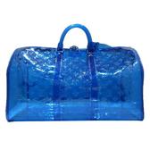 【台中米蘭站】全新品 Louis Vuitton PVC KEEPALL 50 限量旅行袋(M53272-寶藍)
