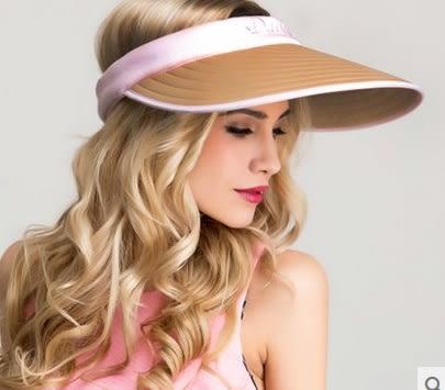 太陽帽女夏天戶外韓版遮陽帽防曬沙灘帽大沿可折疊防紫外線涼帽子 -uai0010