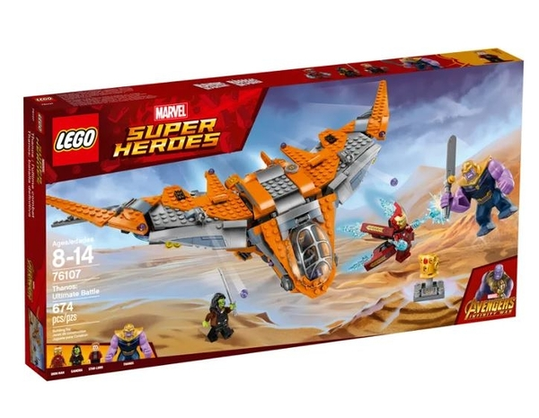 LEGO 樂高 MARVEL 漫威系列 Thanos: Ultimate Battle 76107