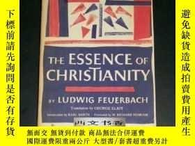 二手書博民逛書店德國哲學家費爾巴哈作品,1957年紐約出版《基督教的本質罕見》