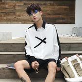 長袖襯衫 男士韓版修身潮流帥氣休閑新款青少年白襯衣夏季薄款 GB2939『樂愛居家館』