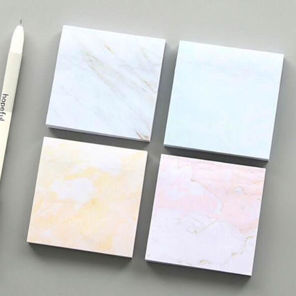 【BlueCat】大理石紋理方形便條紙 N次貼 便利貼