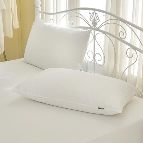 義大利La Belle《經典品味》吸濕排汗抑菌防水拉鍊式保潔枕套二入