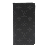 LOUIS VUITTON 黑色原花XR手機套 Mobile Cover M67485【BRAND OFF】