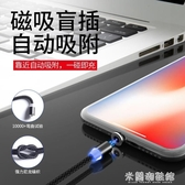 磁吸傳輸線手機快速充電線器蘋果安卓小米華為type-c車載磁鐵通用米蘭潮鞋館