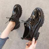 ins小皮鞋女高跟粗跟2019春新款韓版百搭英倫學院風厚底增 伊蒂斯女装