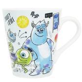 〔小禮堂〕迪士尼怪獸大學陶瓷馬克杯《綠馬卡龍》咖啡杯茶杯精緻盒裝4935124 50364