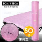 美容美體SPA鋪床巾-50張/捲(薄款)開洞型拋棄型紙床單(L145)台灣製[58374]
