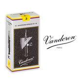 小叮噹的店- 法國 Vandoren SOPRANO V12 高音薩克斯風竹片 銀盒 10片裝S-V12