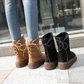 雪地靴女中筒冬季加絨保暖鬆糕厚底百搭韓版加厚棉鞋靴子 新北購物城