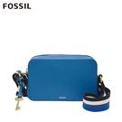FOSSIL BILLIE 多彩條紋織帶方形立體斜背包-天藍色 ZB7902965
