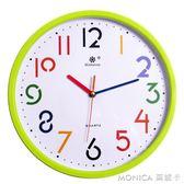 靜音大氣簡約鐘錶掛鐘客廳創意歐式藝術美式時鐘家用餐廳時尚臥室 莫妮卡小屋 IGO