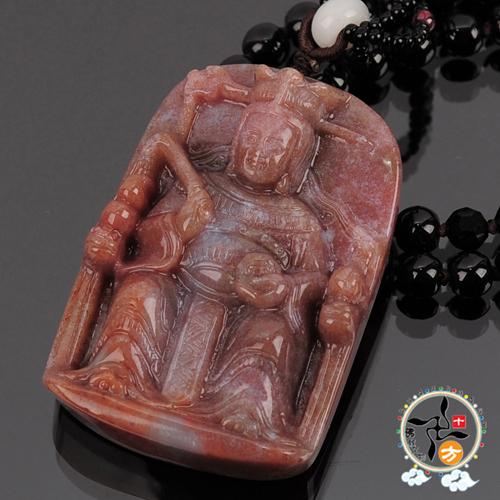 九天玄女 (七彩玉)中國結項鍊 【十方佛教文物】