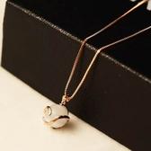 項鍊 玫瑰金純銀 貓眼石吊墜-簡約有型生日情人節禮物女飾品73bw11【時尚巴黎】