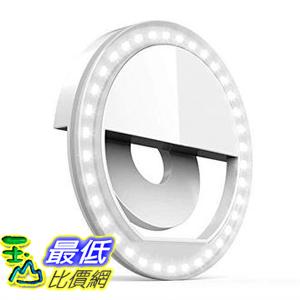 Auxiwa Clip on Selfie Ring Light 36個LED 用於智能手機相機圓形 白色 [美國代購]