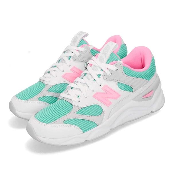New Balance 慢跑鞋 NB X90 綠 粉紅 透氣網布 麂皮 全新鞋款 運動鞋 女鞋【ACS】 WSX90TLTB