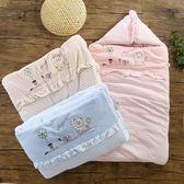 嬰兒睡袋 新生兒多功能嬰兒抱被睡袋兩用冬季純棉加厚0-12個月外出防踢秋冬 可卡衣櫃