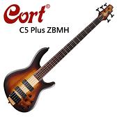 ★CORT★C5 Plus ZBMH 嚴選桃花心木電貝斯-經典五弦貝斯漸層色