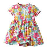 夏日度假風彩色花朵包屁衣 哈衣 兔裝 包屁衣 連身裙 連身包屁衣 童裝