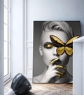 現代簡約玄關裝飾畫過道壁畫北歐抽象人物油畫客廳掛畫沙發背景牆 QM 依凡卡時尚