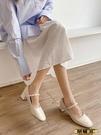瑪麗珍鞋 淑女風晚晚鞋2021年春新款粗跟百搭復古瑪麗珍鞋溫柔仙女風單鞋潮   【榮耀 新品】