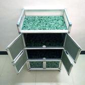簡易餐邊櫃三層組裝不生銹鋁合金櫃櫥櫃廚房置物架放碗櫃酒櫃QM 西城故事
