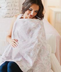 iae創百市集 美國Mothers Lounge Udder Cover 美型哺乳巾/哺乳遮罩-粉灰草履