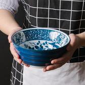 日式餐具青花瓷海碗創意拉麵碗7寸
