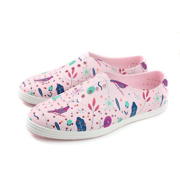 native JERICHO PRINT 洞洞鞋 休閒鞋 粉紅色 鳥語花香 女鞋 11300401-8768 no888