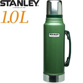 【Stanley 美國  經典真空保溫瓶1.0L 綠 】10-01254/保溫瓶/保溫水壺/暖水瓶/保溫杯★滿額送
