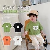 棉小班童裝男童T恤印花短袖夏裝兒童體恤韓版潮男寶寶上衣韓版潮 『蜜桃時尚』